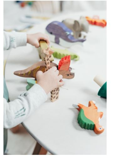 Children Playing With Toys For Learning